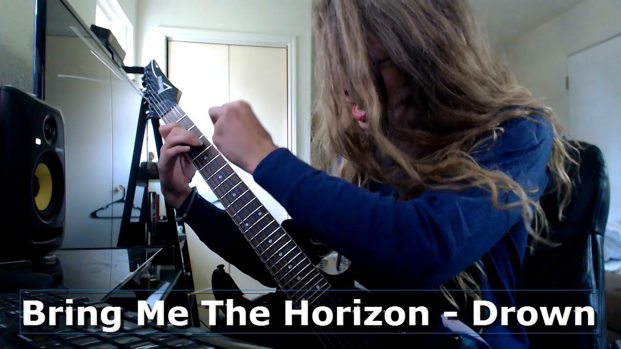 Bring me the horizon drown guitar cover youtube