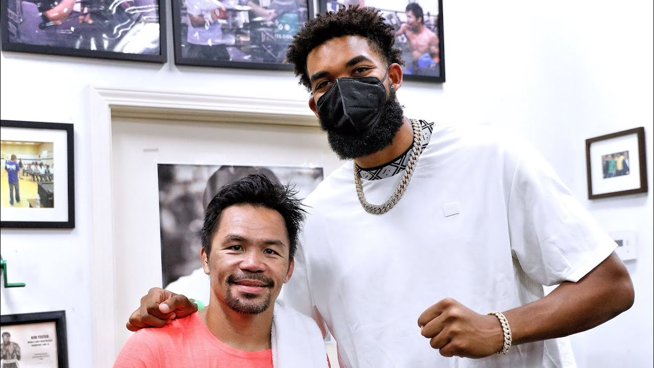 KARL ANTHONY TOWNS visits MANNY PACQUIAO! 🏀 🥊