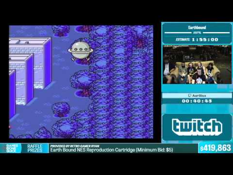 Earthbound by Aurilliux in 1:27:07 - Summer Games Done Quick 2015 - Part 84