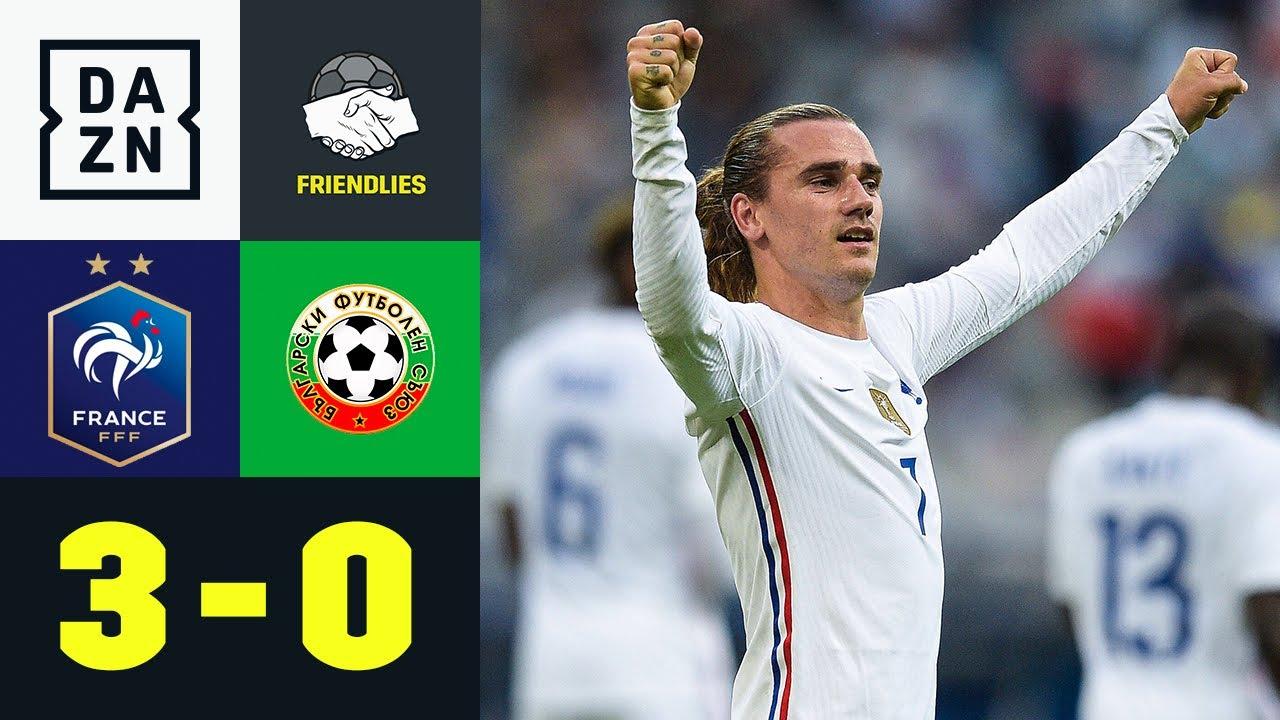 Griezmann-Fallrückzieher & später Giroud-Doppelpack: Frankreich - Bulgarien 3:0 | Friendlies | DAZN