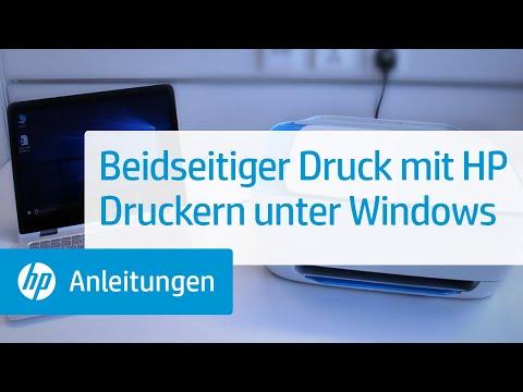 Beidseitiger Druck mit HP Druckern unter Windows