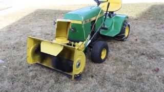 John Deere 111 Snow thrower 1-21 for sale on ebay