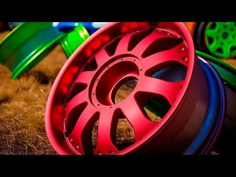 Ролик Как правильно красить диски?