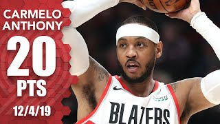carmelo-anthony-records-3rd-20-point-game-for-the-trail-blazers-vs-kings-2019-20-nba-highlights