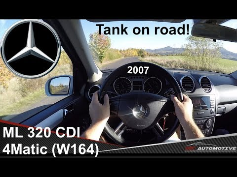 Mercedes ML 320 CDI 4Matic (2007) POV Test Drive + Acceleration 0 - 200 Km/h