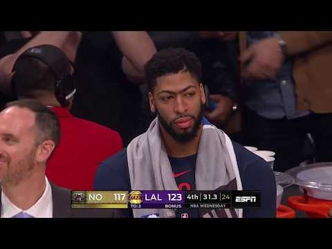 LeBron James Hits Go-Ahead Three To Secure The Win With Anthony Davis Watching
