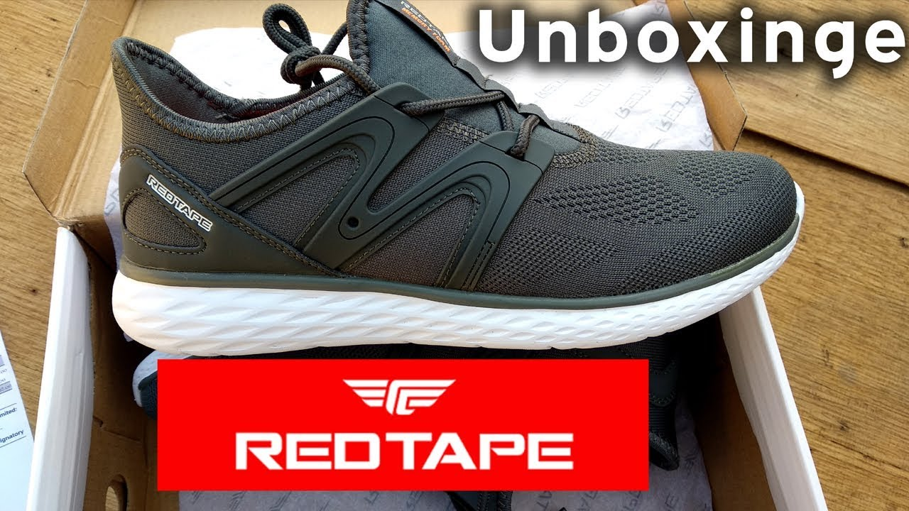 Red Tape Running Shoes Unboxing - YouTube