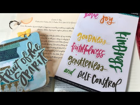 Bible Art Journaling | Joy is Strength