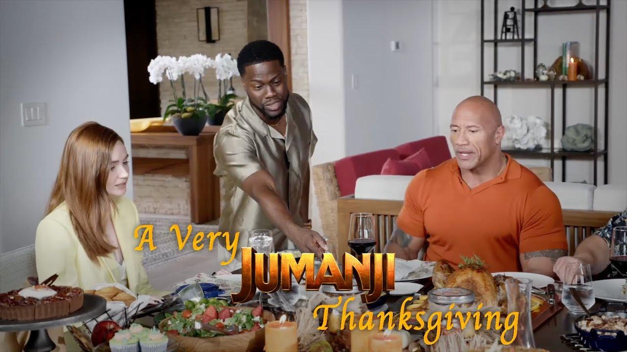 A 'Jumanji' Thanksgiving with Dwayne Johnson and Kevin Hart ...