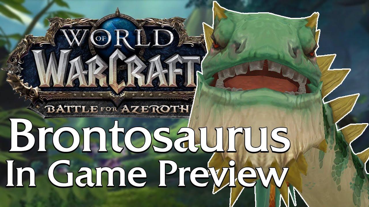 Brontosaurus Npc Mount Pet Hunter Pet In Game Preview World Of Warcraft Youtube