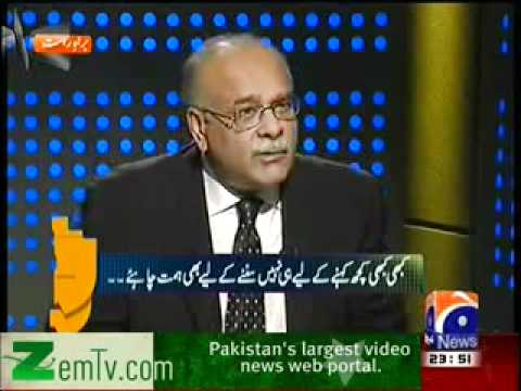 Finally Najam Sethi exposed Mubasher Lucman & Talat Hussain Live on GEO NEWS