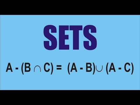 Class Xi Nda Cpt Sets A B Intersection C A B Union A C