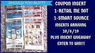 COUPON INSERT PREVIEW 10/6/19|SHOULD U BUY?PLUS INSERT GIVEAWAY♥️1-RMN 1-SS FOR 10/6/19