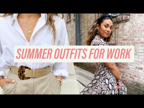 10 EASY AND FASHIONABLE SUMMER OUTFIT IDEAS FOR WORK FT. ARITZIA, NASTYGAL, & LULUS HAUL