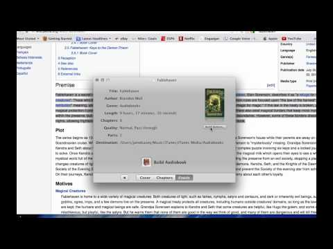 Create audiobooks for your iphone, ipad, and  android