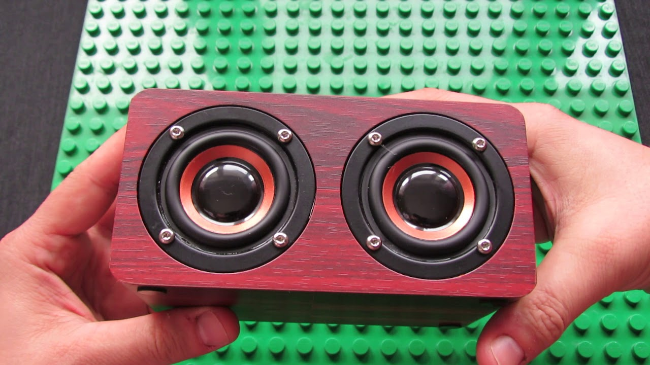 W5 Wooden Wireless Bluetooth Speaker HIFI Stereo Subwoofer Sound Amplifier  Sound Test