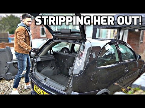Project 1.8 Corsa - Stripping The Interior! (Part #12)