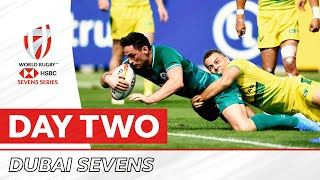 Highlights: Men's teams thrill on day two at the Dubai Sevens