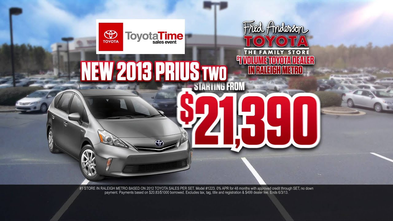 Fred Anderson Toyota   Toyota Time   Prius Specials   May 2013   Raleigh, NC
