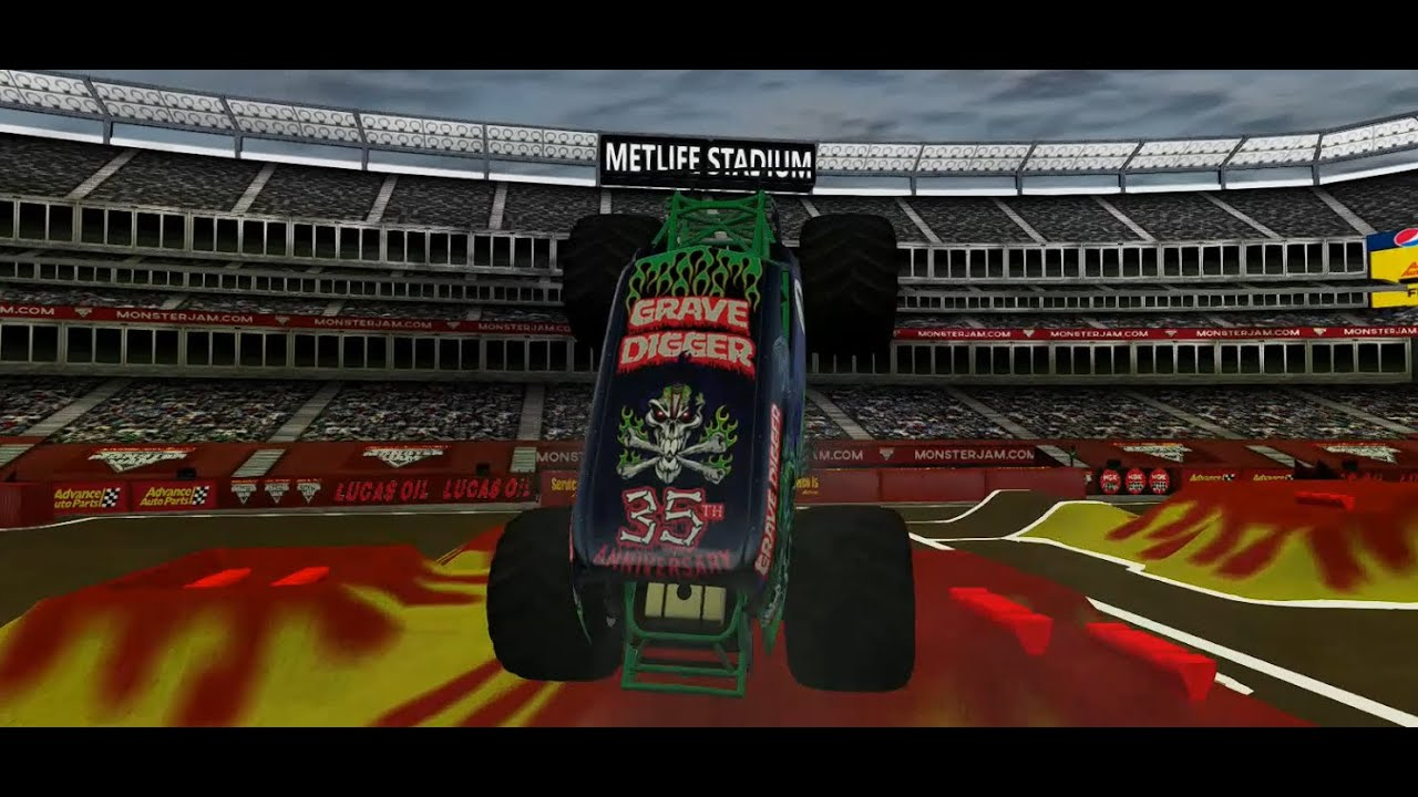 Monster Jam Metlife Freestyle 2/Wheels skills +more  (Beamng Drive)