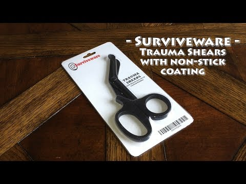 Surviveware Trauma EMT Shears with Non-Stick Coating Review