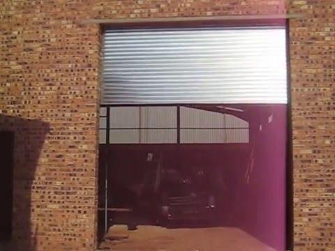 Automated industrial roller shutter door .