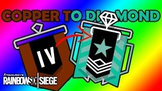 COPPER 0 POINTS TO DIAMOND IN 20 MINS - Rainbow Six: Siege