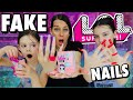 WE GOT FAKE NAILS ! UNBOXING LOL SURPRISE LILS WEARING LONG ACRYLIC NAILS | Challenge