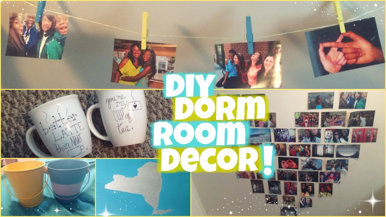 Diy dorm room decor youtube for Diy room decorations youtube
