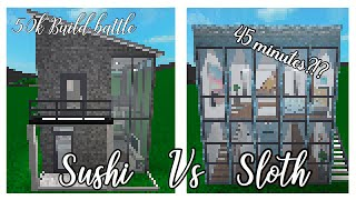 Construir la batalla Sushi vs Sloth Roblox Bloxburg