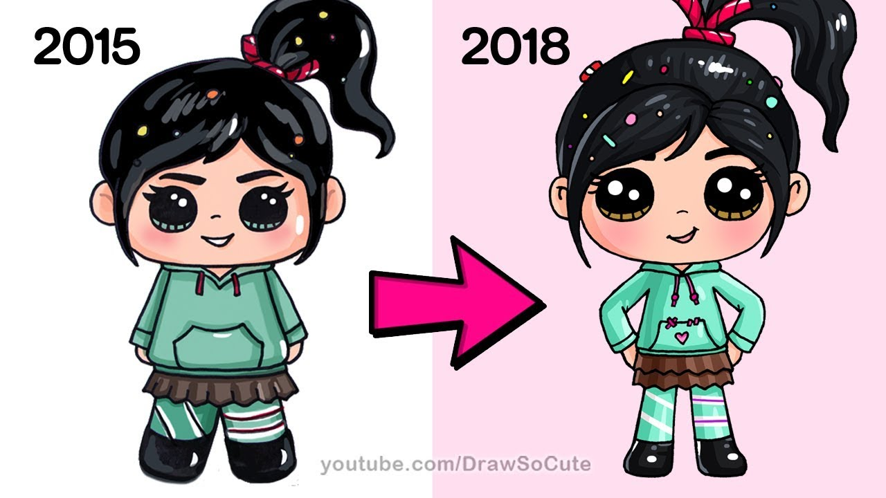 How To Draw Vanellope New Ralph Breaks The Internet Youtube