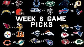 Week 6 NFL Game Picks | NFL