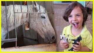 Yankı Bugün At Çiftliğine Gitti, Ata Binmedi | Çocuk Videosu | Prens Yankı