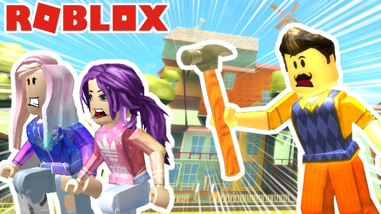 Janet And Kate Roblox Granny Roblox Hello Neighbor Sneaking Into The Neighbor S House Youtube