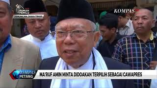 Ma'ruf Amin Minta Didoakan Terpilih sebagai Cawapres