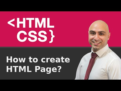 Create HTML / Web Design With HTML & CSS Tutorial (2020)