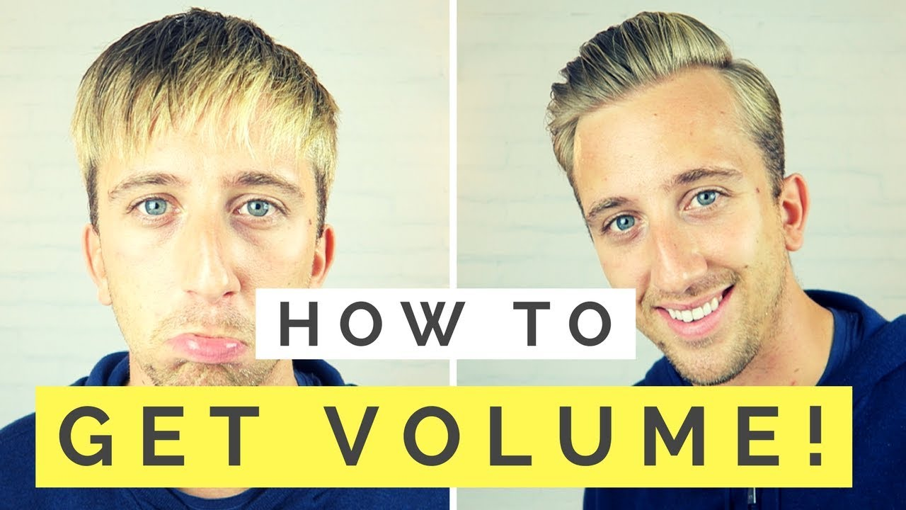add volume to hair men