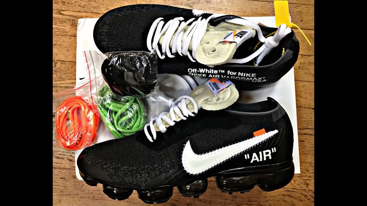 61d38ab6 Off White Nike Vapor Max Unauthorized Replica Unboxing Review - YouTube