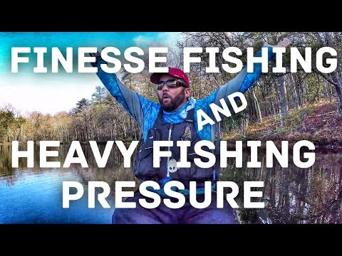 Bass Fishing - Finesse Fishing - How To Fish High Pressure Lakes