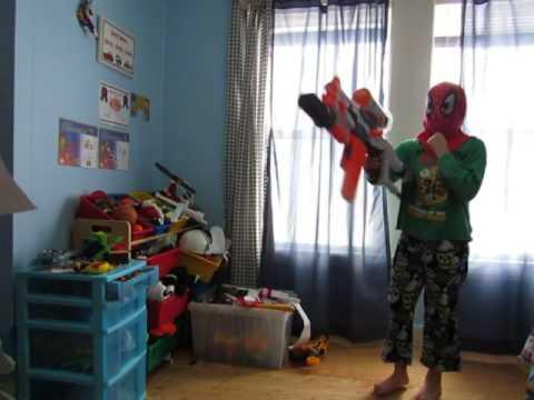 Nerf guns vs paper