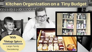 Kitchen Cabinet Organization on Tiny Budget - Using Ikea & Dollar Tree