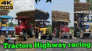 Swaraj744 Vs Mahindra 585 Vs Sonalika Vs HMT Vs Mahindra 575 tractor Highway Pulling & racing | CFV