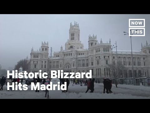 Madrid Hit with Historic Blizzard