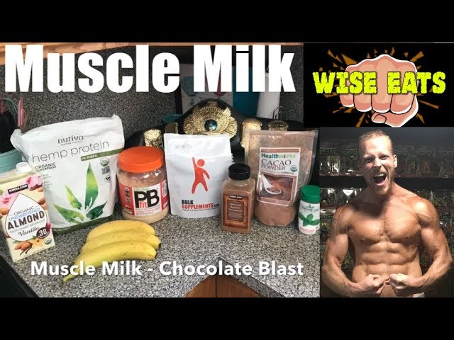 Wise Eats Muscle Milk Recipe Video - Chocolate Blast (Workout Recovery Shake)