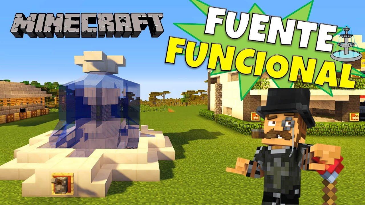 Minecraft como hacer una fuente automatica super for Casa moderna minecraft rey zerch