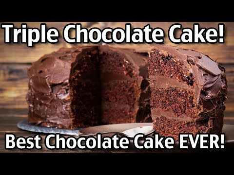 Making Triple Chocolate Cake- Let's Celebrate Mike's Birthday!!