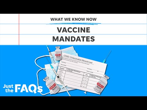 Are vaccine mandates legal? Here's what employers are allowed to do   Just the FAQs