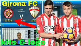 Dream League Soccer 2019 | How to create Girona FC Team Kits & Logo 2019