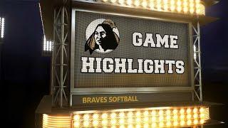 Braves Softball Highlights: Georgia Southwestern