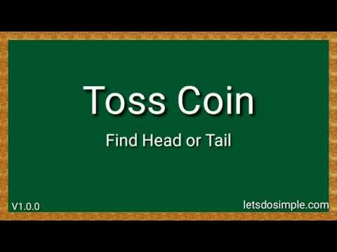 Toss Coin - Head or Tail V1 0 0 find head or tail